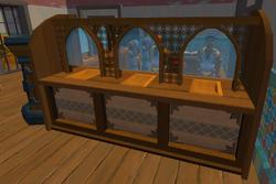 Banker bank booth