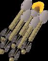 Lit dark fire arrows detail