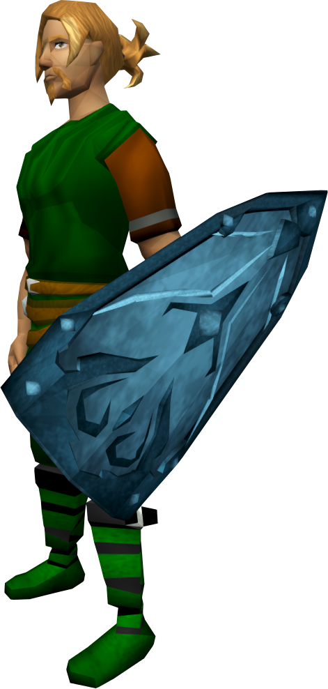 Rune kiteshield equipped