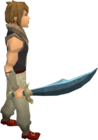 Rune scimitar equipped old