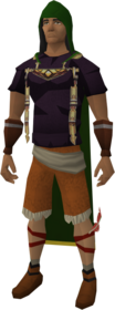 Herblore hood equipped