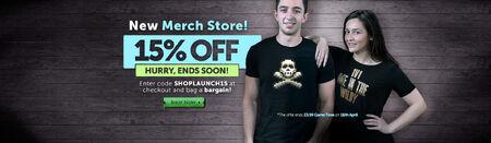 Merch store sale ends soon head banner