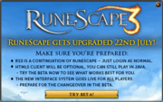 RuneScape 3 beta splash
