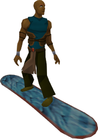 Snowboard (frosty) equipped
