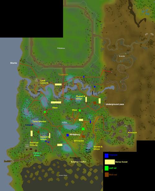 Tirannwn routes