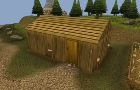 Doric's hut old