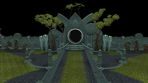 Guthix shrine - Central cave entrance