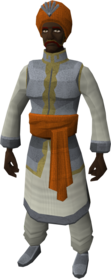 Silken outfit equipped (male)