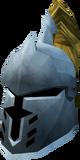 Steel heraldic helm (Dorgeshuun) detail