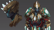 Tectonic Helm And Body Concept Art