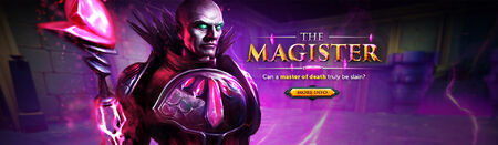 The Magister head banner