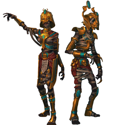 Ancient mummy outfit concept art