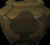 Cracked woodcutting urn (nr) detail