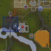 Shooting Star (south-west of Varrock) location