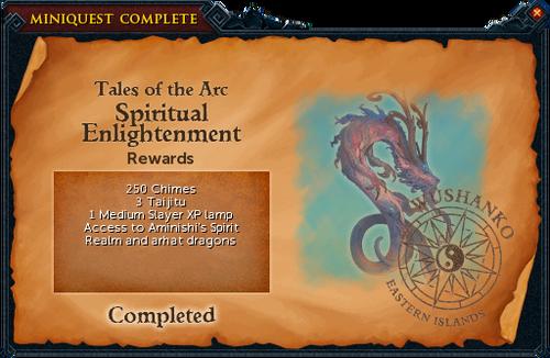 Spiritual Enlightenment reward
