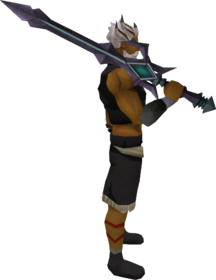 Starfire sword equipped