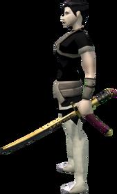 Elite tetsu wakizashi equipped
