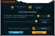 Manage Bonds (Conversion)