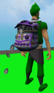 Shadow Gem Sack equipped