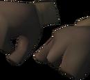 Diving suit gloves