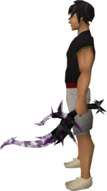 Off-hand drygore longsword (shadow) equipped