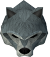 Werewolf mask (dark grey, male) detail