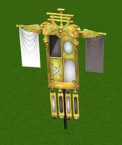 Bandeira das conquistas detalhe