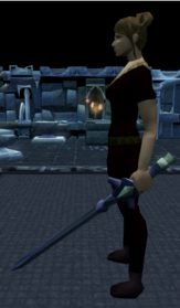 Off-hand argonite longsword equipped