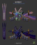 Seiryu the Azure Serpent 3D model
