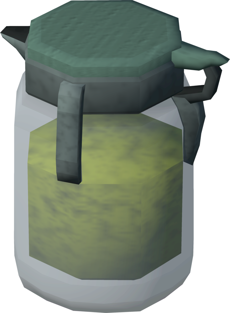 Emergency flask of stew detail