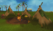 Marimbo's fire and tents