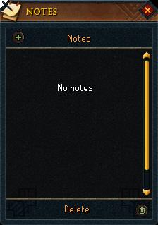 Notes Menu