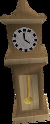 Oak clock detail