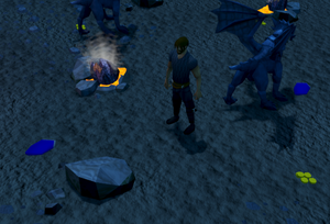Collecting blue dragon scales