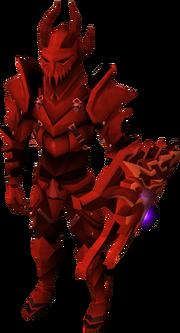 Equipamento dragônico equipado