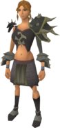 Replica Bandos armour equipped (female)