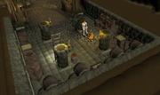 Sir Vant in cellar