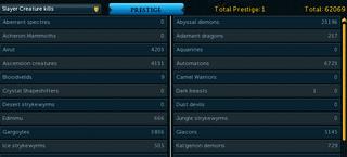 Beasts tab - prestiged