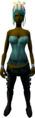 Feather headdress (yellow) equipped.png