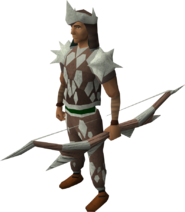 Sacred clay ranged armour equipped