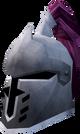 Steel heraldic helm (Fairy) detail