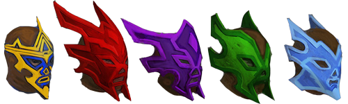 Luchador masks concept art