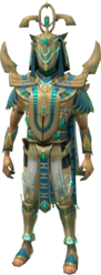 Menaphite Ancient Outfit equipped (male)