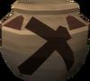 Plain mining urn detail