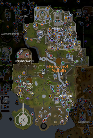 Starting area map