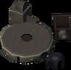 Broken cannon base detail