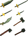 RS Classic Adamantite Weapons