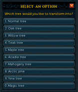 Ring of trees configure interface