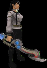 Augmented Korasi's sword equipped
