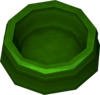 Dog bowl (green) detail